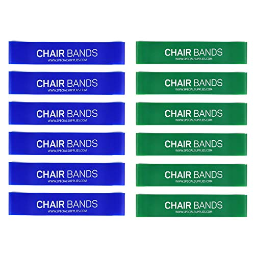 Special Rubber - Special Supplies Kid's Rubber Chair Bands (12-Pack) Promotes Calming Focus, Fidget & Stress Relief | Supports Sensory Needs | Fits Classroom Desks