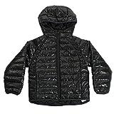 NIKE Air Jordan Jumpman Boys Puffer Hooded Jacket Coat (Medium(5-6YR), Anthracite)