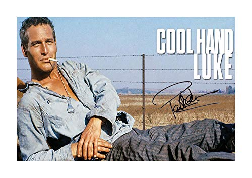 (Engravia Digital Paul Newman Cool Hand Luke (2) Poster Signed Autograph Reproduction Photo A4 Print (Unframed))