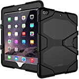 iPad 6th/5th Generation Case,iPad 9.7 Case 2018/2017,Model(A1893/A1954/A1822/A1823),Heavy Duty Shockproof Hybrid Rugged Rubber Stand Case,Black
