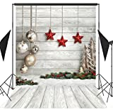 6x9ft Christmas Theme Wood Board Christmas Ball Seamless Pictorial Cloth Vinyl Photography Backdrop Customized Photo Backdrops Background Studio Props SDJ-206