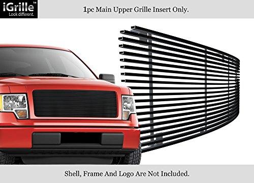 Aps Fits 2009 2014 Ford F 150 Regular Models Black Stainless Steel Billet Grille F86414j