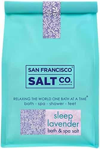 Sleep Lavender Bath Salts 2 lb. Luxury Bag by San Francisco Salt Company