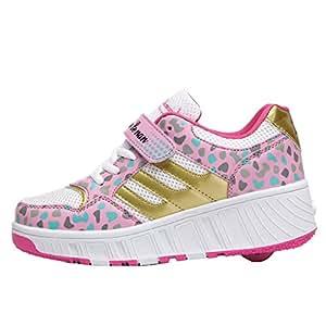 iBaste ventilación Zapatos de moda caminar rápido zapato con ruedas automático