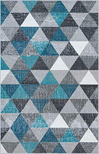 Rugs.com Valencia Collection Area Rug – 5X8 Grey Low Rug Perfect for Bedrooms, Dining Rooms, Living Rooms