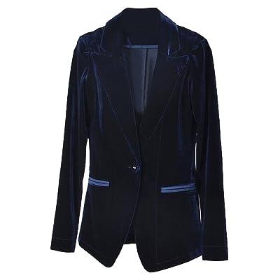 ARTFFEL-Women Vintage One Button Lapel Velvet OL Blazer Suit Coat Jakcet Outerwear
