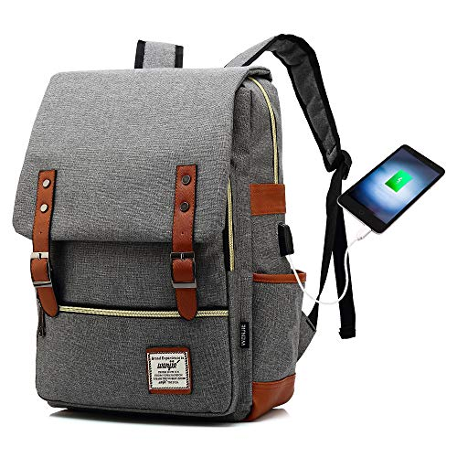 (HITOP Laptop Backpack College School Backpack Bookbag Book Bag Travel Backpack Computer Bag USB Charging Port Fashion Backpack for Women Men)