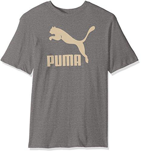 PUMA Men's Archive Life T-Shirt, Medium Gray Heather/Birch, (Birch Gray T-shirt)