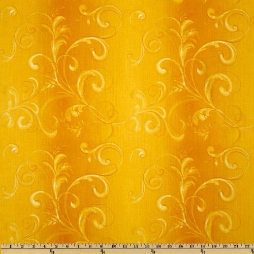 (Glorious Garden French Morning Yellow Fabric By The YD)