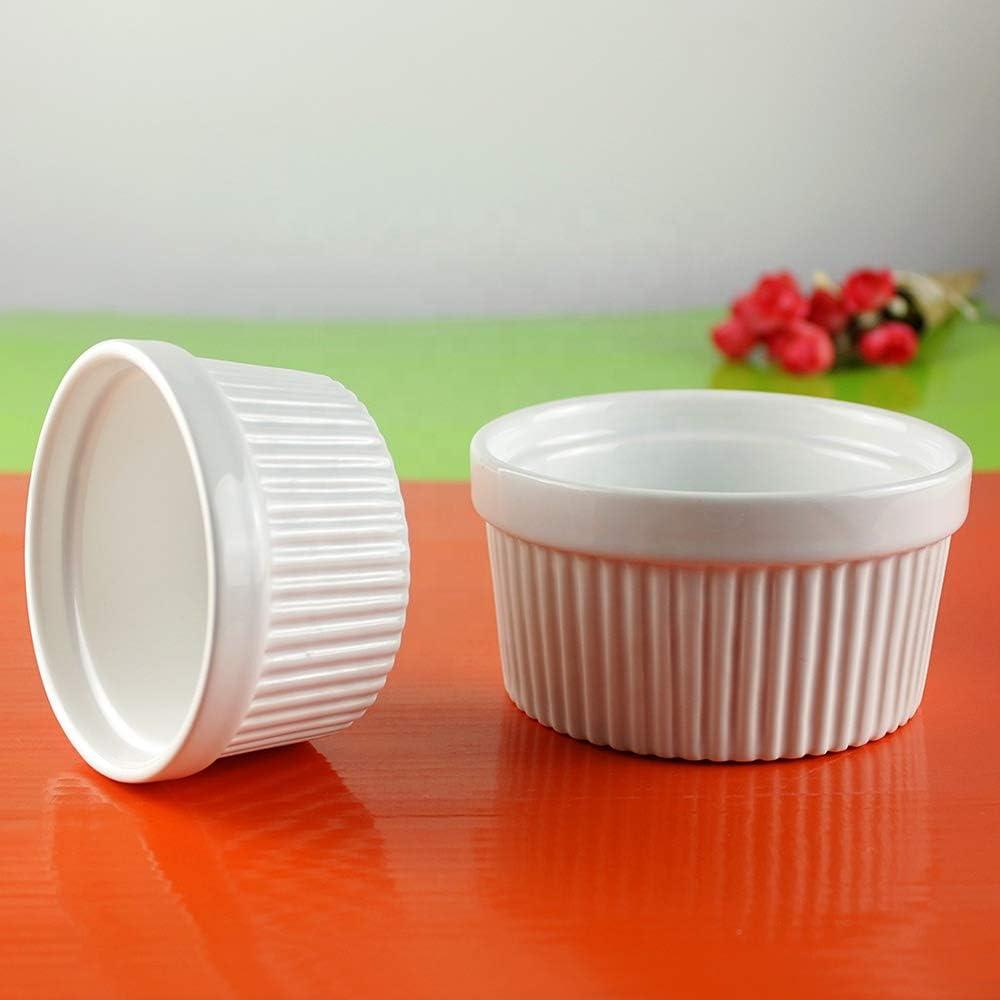 White Ceramic Bakeware Souffle Dish Bropher