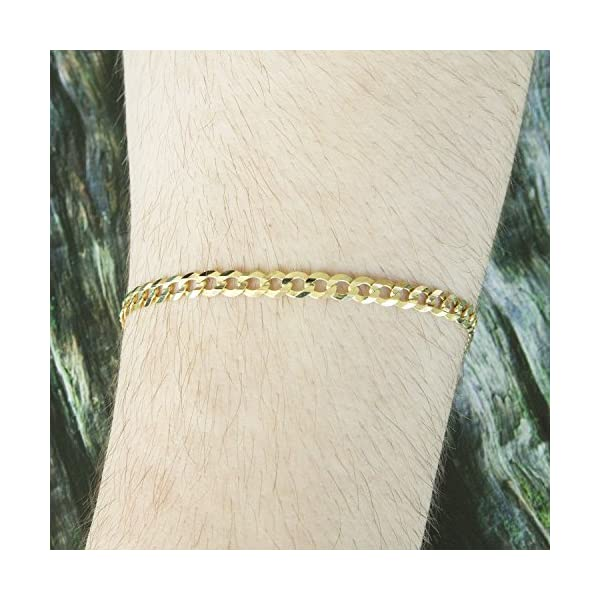 Solid-14k-Yellow-Gold-47mm-Comfort-Cuban-Curb-Chain-Bracelet-85