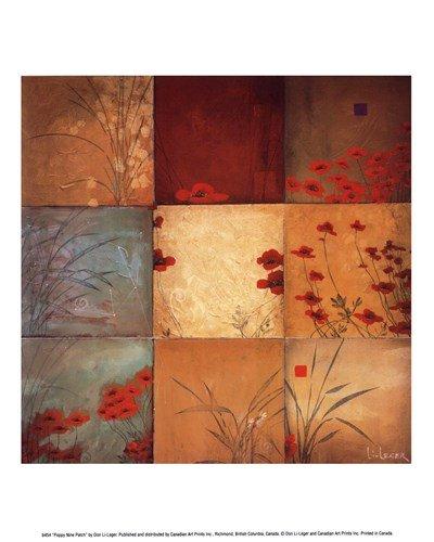 Poppy Nine Patch by Don Li-Leger - 9.5x11.75 Inches - Art Print ()