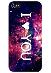 Galaxy Pattern with Quote I love you Snap on Case Cover for Apple for iphone 6 4.7