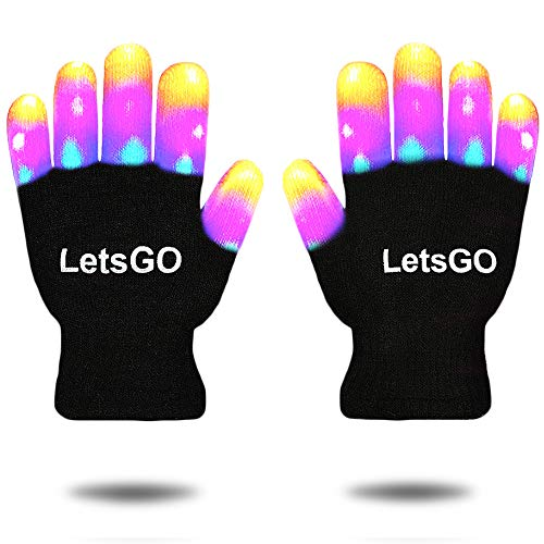 Cooco New Fun Autistic Toys for 4-8 Year Old Boys, LED Glove for Kids Flashing Costume Dress Up Christmas Toys Gifts for 3-10 Year Old Boys Girls Black CCUSST07 ()