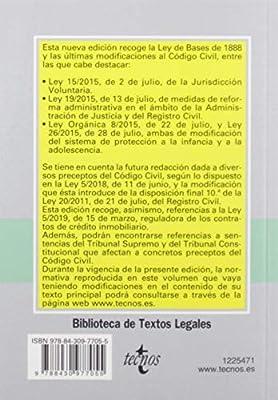 Código Civil (Derecho - Biblioteca De Textos Legales): Amazon.es: Editorial Tecnos, Bercovitz Rodríguez-Cano, Rodrigo: Libros