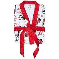 Roupão Felpudo Lepper Mickey e Minnie Vermelha Grande Pacote de 1 Algodão Tradicional