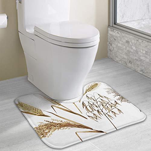 Angeline E Topp Watercolor Cereals Customized SMemory Foam Bath Mat Non Slip Absorbent Super Cozy Soft Superfine Fiber Durable U Shape Bathroom Carpet ()