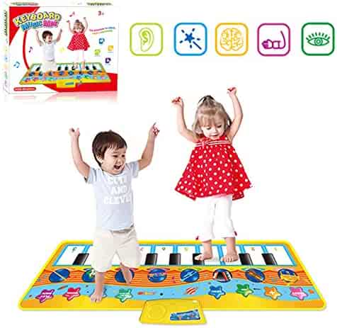 niolio Kids Piano Musical Mats, Colorful Dance Mat with 8 Musical Instruments Mode, Kids Educational Learning Toy Gift for Toddlers Boys Girls Age 2 3 4 5 6 Year Old Children Toys