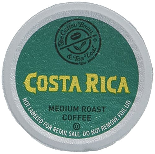 Paradise Costa Rica - Coffee Bean & Tea Leaf Single Serve Coffee Cups, Costa Rica, Compatible with 2.0 K-Cup Brewers, 64 Count (4/16ct boxes)