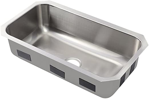 KOHLER Ballad Undermount Stainless Steel 32 in. Single Bowl Kitchen Sink