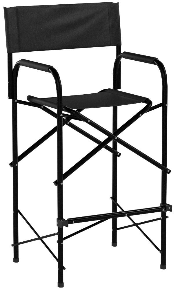 Impact Canopy Tall Folding Director's Chair, Heavy Duty, Set of 2 Chairs, Black by Impact Canopy