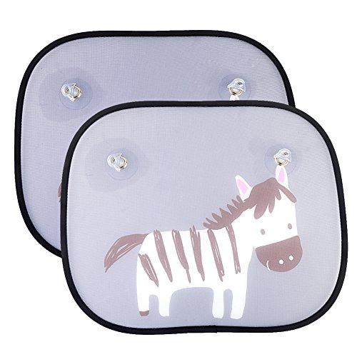 Universell Auto Sonnenschutz Baby IntiPal 2 St. Sonnenblende für Kinder Autosonnenschutz (Zebra)