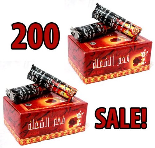 Sale Charcoal New! 200 Tablets Hookah Nargila Coals for Shisha bowl Smoking hookah4sale