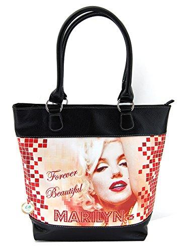 Marilyn Monroe Top Zip Shoulder Bag (Marilyn Monroe Medium Large Purse)