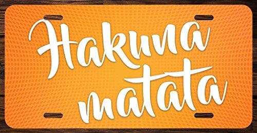 Hakuna Matata Vanity Front License Plate Tag Printed Full Color KCFP037 (Disney License Plate)