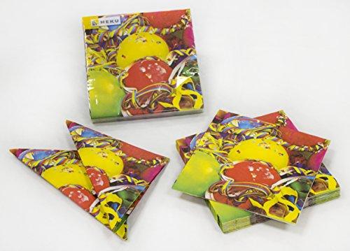 Heku-30005-desechables-de-Set-de-fiesta-con-platos-vasos-y-servilletas-120-piezas