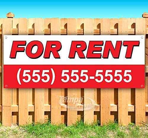 Space Available for Rent # 13 oz Heavy Duty Vinyl Banner Sign with Metal Grommets Advertising Many Sizes Available Flag, Store New