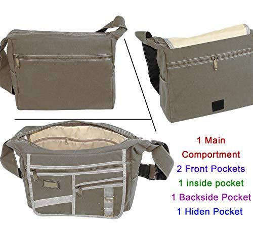 e9f923f3021a NISUN Cotton Sling Cross Body Bag Messenger College Bag One Side Bag ...