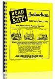 John Deere GP Tractor Operators Service Manual