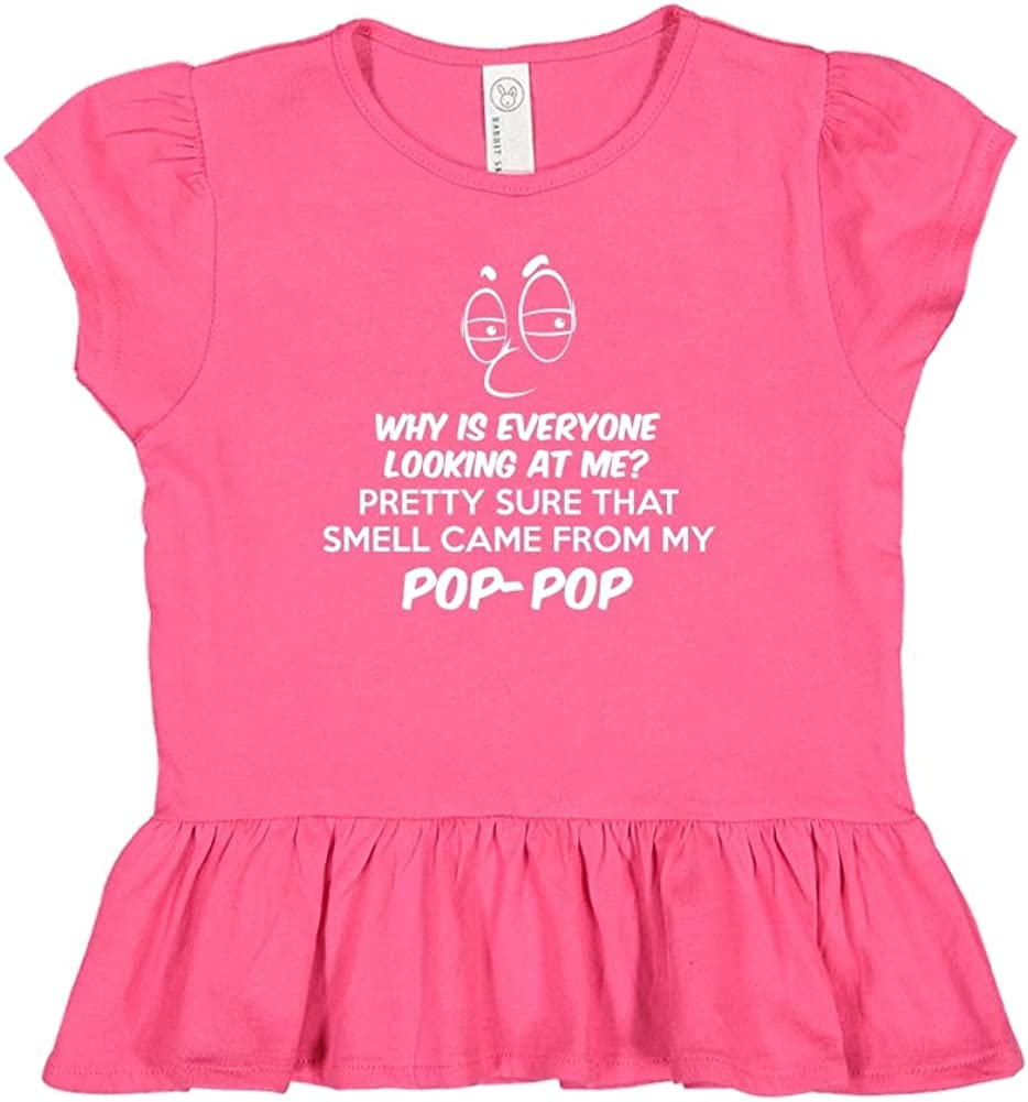 Mashed Clothing Pretty Sure That Smell Came from My Pop-Pop Toddler//Kids Ruffle T-Shirt