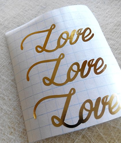 Gold love sticker letter envelope seal, bachelorette party peel and stick décor cups invitations sheets Crafts Scrapbooking Birthday Envelope Seals wedding (Bachelorette Peel)