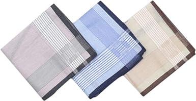 Chinashow A06 - Juego de 3 pañuelos de algodón 100% para hombre, diseño clásico: Amazon.es: Ropa y accesorios