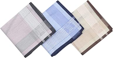 Chinashow A06 - Juego de 3 pañuelos de algodón 100% para hombre ...