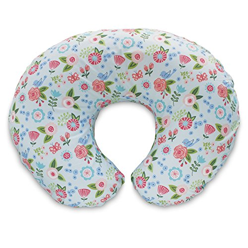 Boppy Pillow Slipcover, Blue Classic Fresh Flowers (Boppy Pillow Slipcover For Girls)