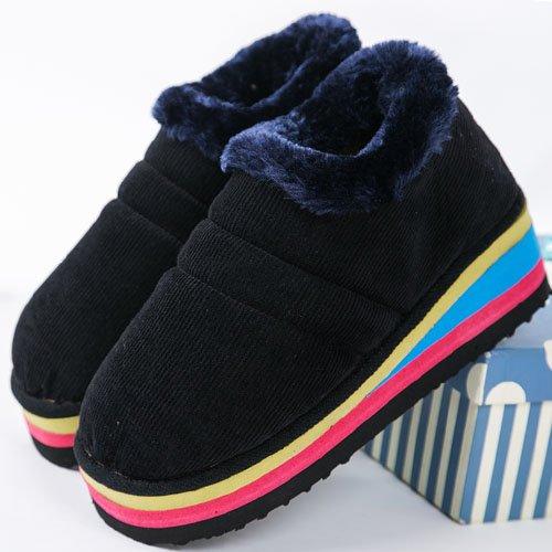 au Chaussures bureau d'hiver Chaussons épais en et du Hand cotton Home Hommes Les Femmes coton antidérapant mois chaud Chaussures 34 Escarpin Package Fwg6xO