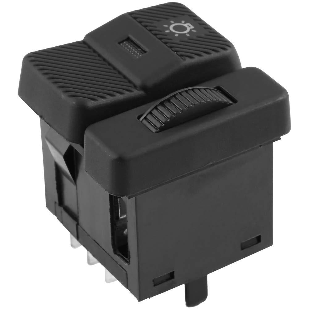 interruptor de faro de autom/óvil Interruptor de la linterna del coche para V-W Pa-ssat B3 B4 Po-lo Transporter Euro-van
