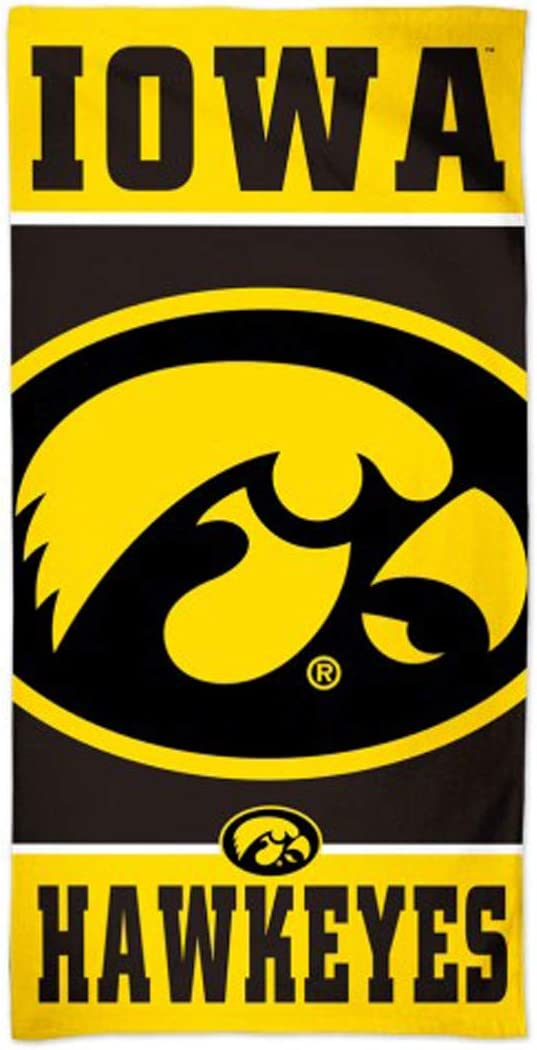WinCraft Iowa Hawkeyes Beach Towel with Premium Spectra Graphics 30 x 60 inches