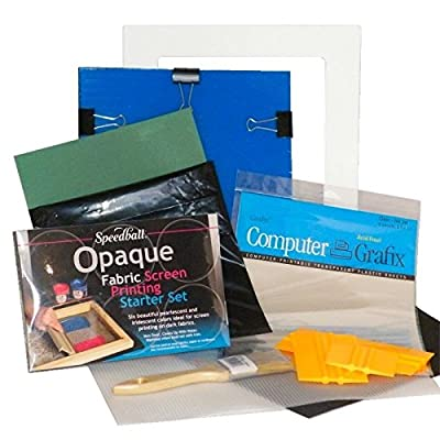 Complete Personal DIY Screen Printing Starter Kit with Speedball Opaque Fabric Inks
