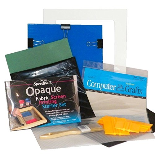 DIY Complete T-Shirt Screen Printing Starter Kit with Speedball Opaque Fabric Inks by EZScreenPrint
