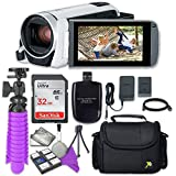 Canon VIXIA HF R800 Camcorder (White) with Sandisk 32 GB SD Memory Card + Accessory Bundle