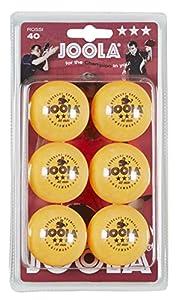 JOOLA Tischtennis-Bälle Rossi 3-Stern 40 orange 6er Blister