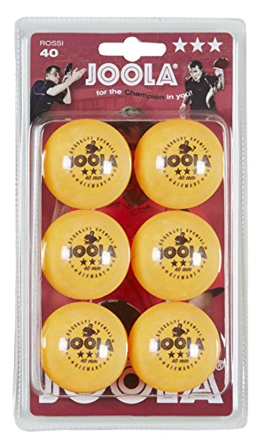 JOOLA Rossi 3-Star Table Tennis Balls – 6 pack - Orange