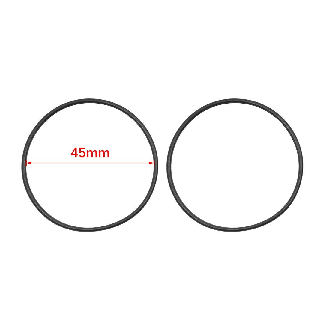 X AUTOHAUX Black NBR O-Ring Seal Gasket Washer for Automotive Car 45 x 1.8mm 20pcs