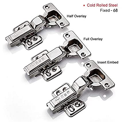 4pcs Hinge Cold Rolled Steel Cabinet Hinges Kitchen Cabinets ...