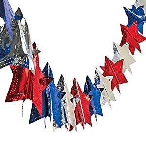 """Star Garland - 4th of July & Party Decorations (9 Ft. X 7 1/4"""")"""