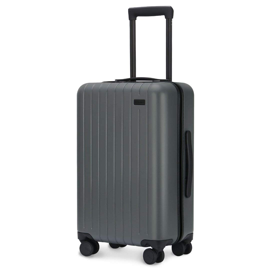 GoPenguin Luggage Carry On Luggage with Spinner Wheels Hardshell Suitcase for Travel with Built in TSA Lock Gray
